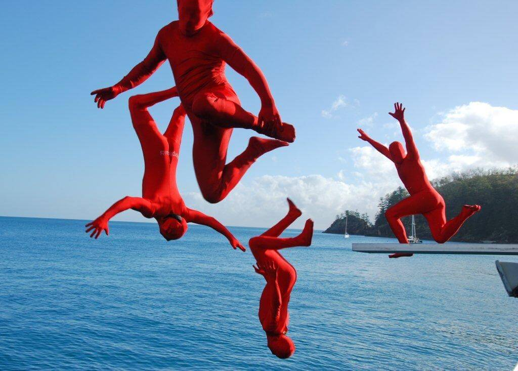 Atlantic Clipper Overnight Tour - Whitsundays - jumping into the sea