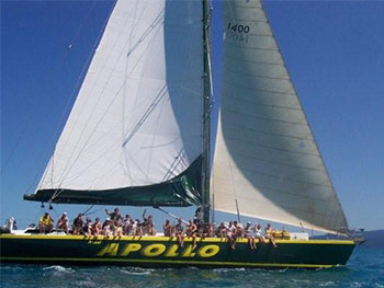 Apollo Maxi Overnight Tour - Whitsundays - group sailing
