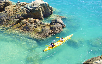 Whitsunday Salty dog - Kayak Tours - crystal water