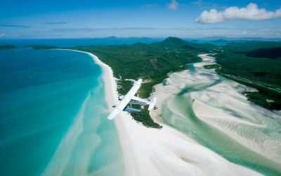 Whitsunday seaplane - Air Whitsunday - Whitehaven beach