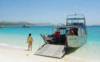 Whitsunday Islands Camping - Scamper - landing