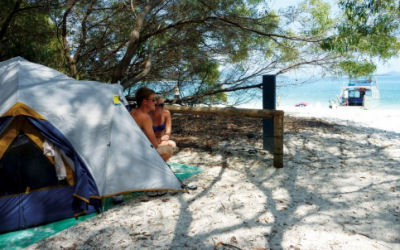 Whitsunday Islands Camping - Scamper - sleep on the beach