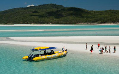 Ocean Rafting-Whitsunday Sailing Day Tour - beached