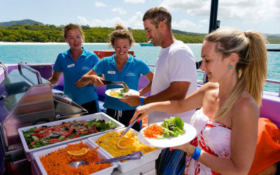 Camira -Whitehaven Sailing tour - menu