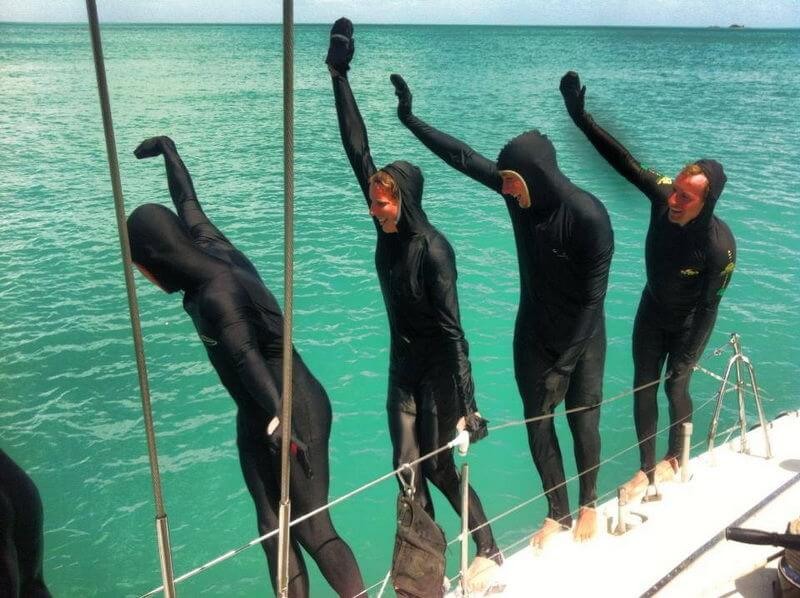 Samurai Overnight Tour - Whitsundays - guests in stinger suits