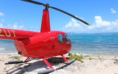 Whitehaven Beach Helicopter Tour - landing