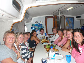 Prima-overnight sailing- galley