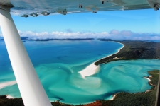 Whitehaven Beach Seaplane Experience - Under wing