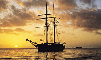 solway lass-- tall ship overnight sailing tour - sunset