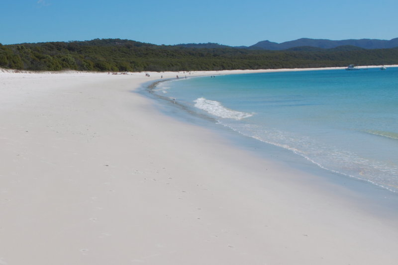Having a picnic on whitehaven beach