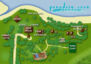 Ride To Paradise Overnight Tour - Whitsundays - Paradise Cove Resort Map