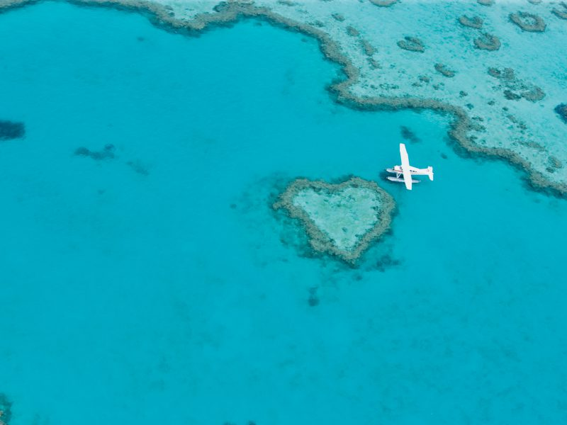 Air Whitsundays Reef Adventure - birds eye of heart reef