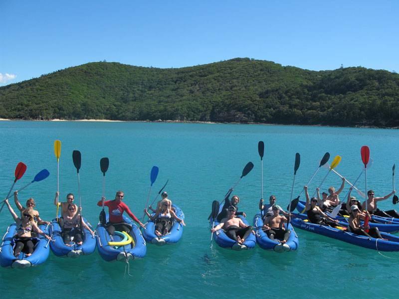 Summertime Overnight Tour - Whitsundays - kayak group
